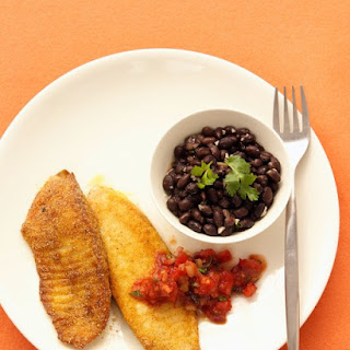 Cornmeal-Crusted Tilapia with Salsa