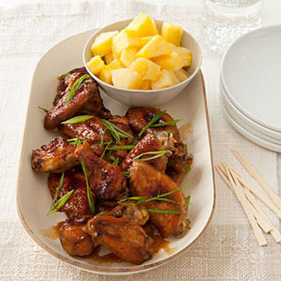 Pineapple-Soy Chicken Wings