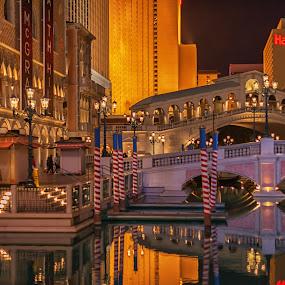 Venetian Hotel Las Vegas by Dan Herman - City,  Street & Park  Street Scenes