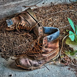 Workin Man by David Lawrence - Artistic Objects Clothing & Accessories ( work, shoes, old, boot, worn, tired, out, artistic, object )