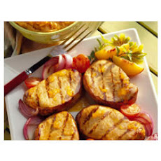Peachy Mustard Pork Chops