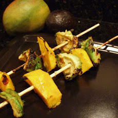 BBQ Mango & Avocado Skewers