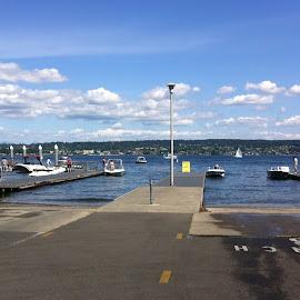 Weekend dock by Jen K - City,  Street & Park  Neighborhoods ( boats, boat launch, lake, dock )