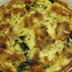 Canadian Bacon-and-Brie Quiche