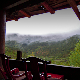 Day Dreaming by Sofarianty Agustin - Buildings & Architecture Homes ( foggy, fog, tibetan house )