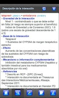 Screenshot of Interacciones Medicamentosas