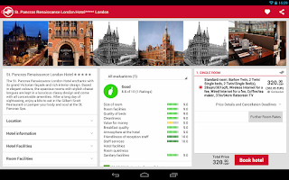 Screenshot of HRS App