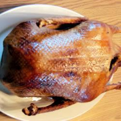 Crispy Roast Goose With Wild Rice Stuffing