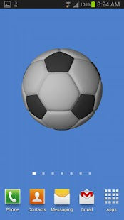 Soccerball Live Wallpaper Pro - screenshot