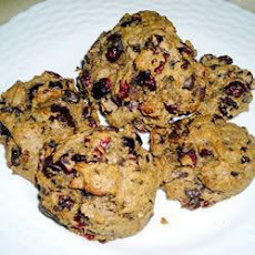 Cranberry Peanut Butter Chocolate Chip Cookies