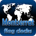 Montserrat flag clocks icon