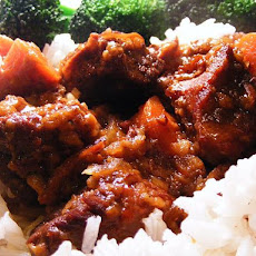 Sweet and Sour Beef Cubes With Baby Carrots