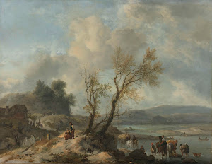 RIJKS: Philips Wouwerman: Landscape with a Sandy Path 1655