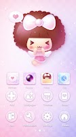 Screenshot of Pink Angel Mocmoc GO Theme
