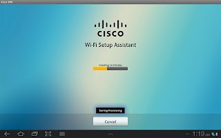 Screenshot of Cisco Network Setup Assistant