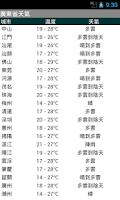 Screenshot of HK Weather