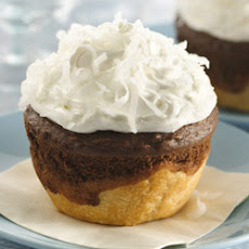 Chocolate-Coconut Jumbo Pie Cupcakes
