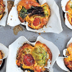 Courgette Blossom And Tomato Frittatas