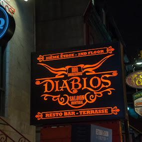 Diablos by Stéphane Vaillancourt - Buildings & Architecture Public & Historical ( urban, montreal, building, quebec, diablos, canada, street, bar, pub )
