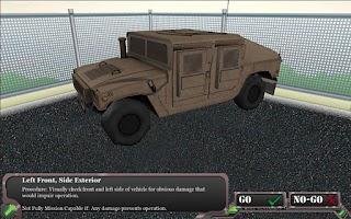Screenshot of Humvee PMCS