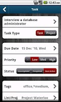 Screenshot of WAToDo! LITE Android ToDoList
