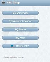 Screenshot of Quilt Shop Locator