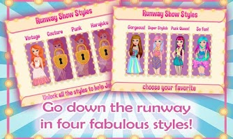 Screenshot of Runway Beauty Secrets Dress Up
