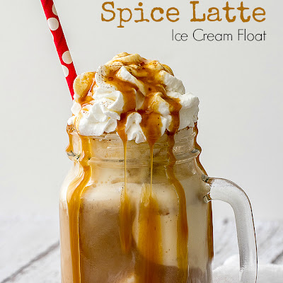 Pumpkin Spice Latte Ice Cream Float