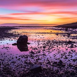 Lymington Sunset by Stephen Bridger - Landscapes Sunsets & Sunrises ( england, uk, colourful, sunset, low tide, lymington, long exposure, ocean, britain )
