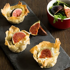 Fig, Goats Cheese And Onion Tartlets