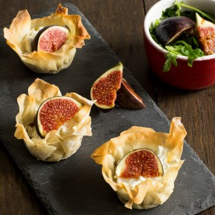 Fig, Goats Cheese And Onion Tartlets Recipe | Yummly
