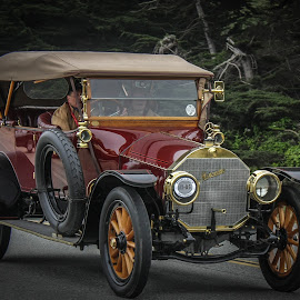 In The Good Old Summertime by William Thompson - Transportation Automobiles ( mercedes cars, antique automobiles, automobiles, cars on the road )