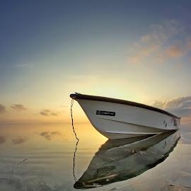 The Popular Boat At Sanur by Arya Satriawan - Transportation Boats ( water, nature, national geographic, sunrise, beach, transportation, landscape, boat, sun )