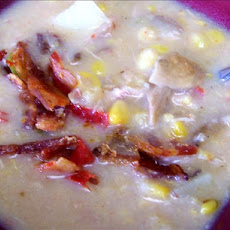 Smoked Chicken, Wild Mushroom and Corn Chowder
