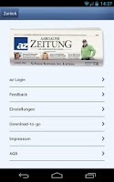Screenshot of az Aargauer Zeitung Mobile