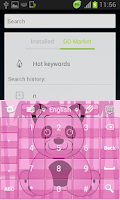 Screenshot of Pink Panda Keyboard