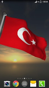Turkey Flag + LWP - screenshot