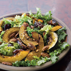 Roasted Squash Salad with Dates and Spicy Pecans