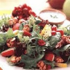 Spinach and Hazelnut Salad with Strawberry Balsamic Vinaigrette