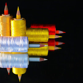 Thread-pencil combo by Asif Bora - Artistic Objects Other Objects
