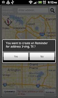 Screenshot of Location Reminder