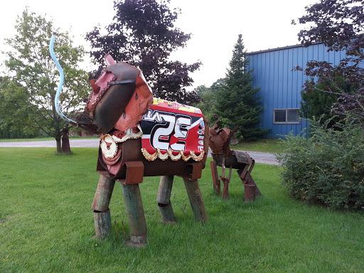 Elephants Steel Sculpture