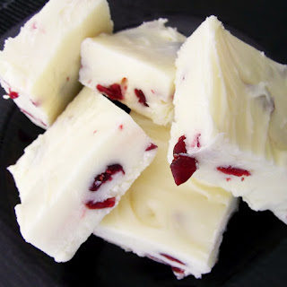 Cranberry and White Chocolate Fudge