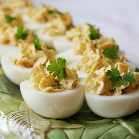 Bacon- Balsamic Deviled Eggs