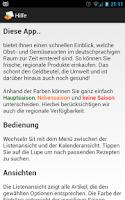 Screenshot of Obst- und Gemüsekalender