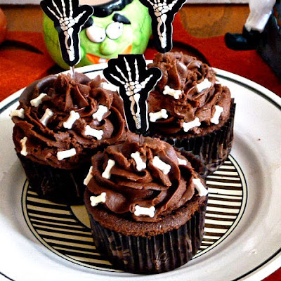 Boo! Chocolate Cupcakes with Creepy, Cute Decorations