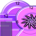 Crazy Clock Purple Mix Shapes