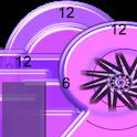 Crazy Clock Purple Mix Shapes icon