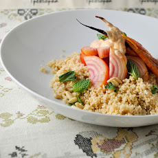 Beets and Carrots with Couscous and Harissa Yogurt
