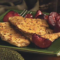 Pork Cutlet with Plums